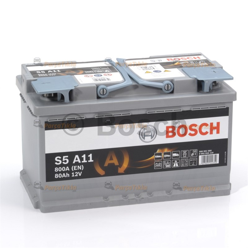 80 AGM BOSCH AKÜ START STOP